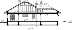 Rodinný dům Slaměnka Plus-řez domu