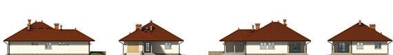 Přízemní rodinný dům-bungalov Slaměnka-pohledy