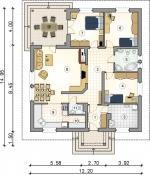 Montovaný rodinný dům Kalifornia-půdorys