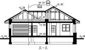Rodinný dům bungalov Silver GL 360-řez