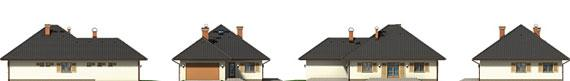 Přízemní dům-bungalov Medvědinec-pohledy