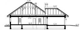 Přízemní dům-bungalov Medvědinec-řez