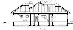 Přízemní dům-bungalov Hacienda-řez domu