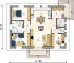 Rodinný dům Ametyst GL 61-půdorys